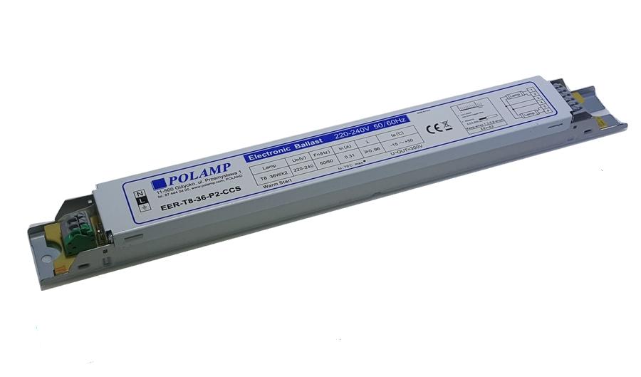 Statecznik elektroniczny EVG 2x36W T8 ciepły start