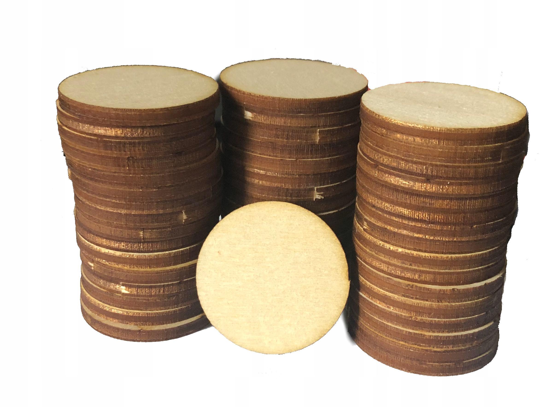 KOŁA drewniane Kółka pełne EKO scrapki 3cm 100szt