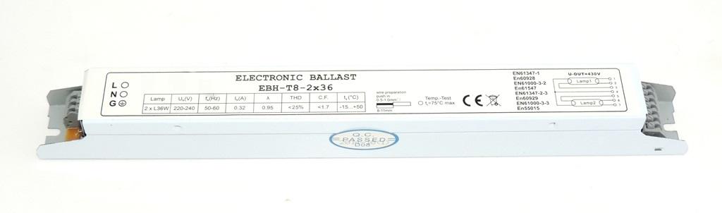 STATECZNIK ELEKTRONICZNY 2x36W T8 BALLAST