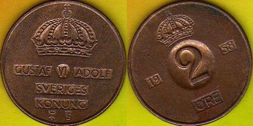 Szwecja 2 Ore 1958 r.
