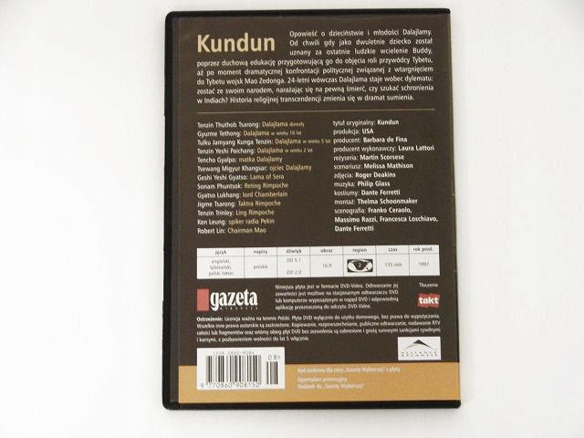 Kundun - życie Dalaj Lamy (1997) FILM DVD