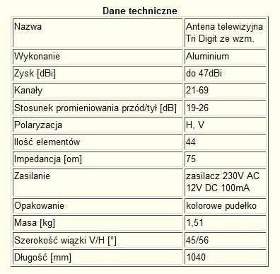 Najmocniejsza ANTENA DVB-T ZE WZMACNIACZEM do47dBi