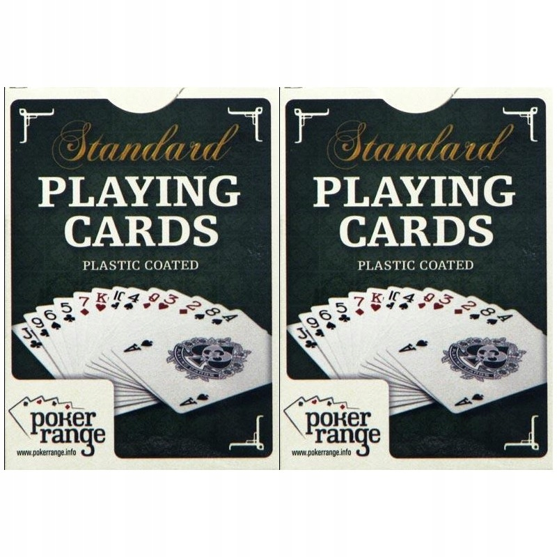 KARTY ORYGINALNE Poker Range PLASTIKOWANE 2x54