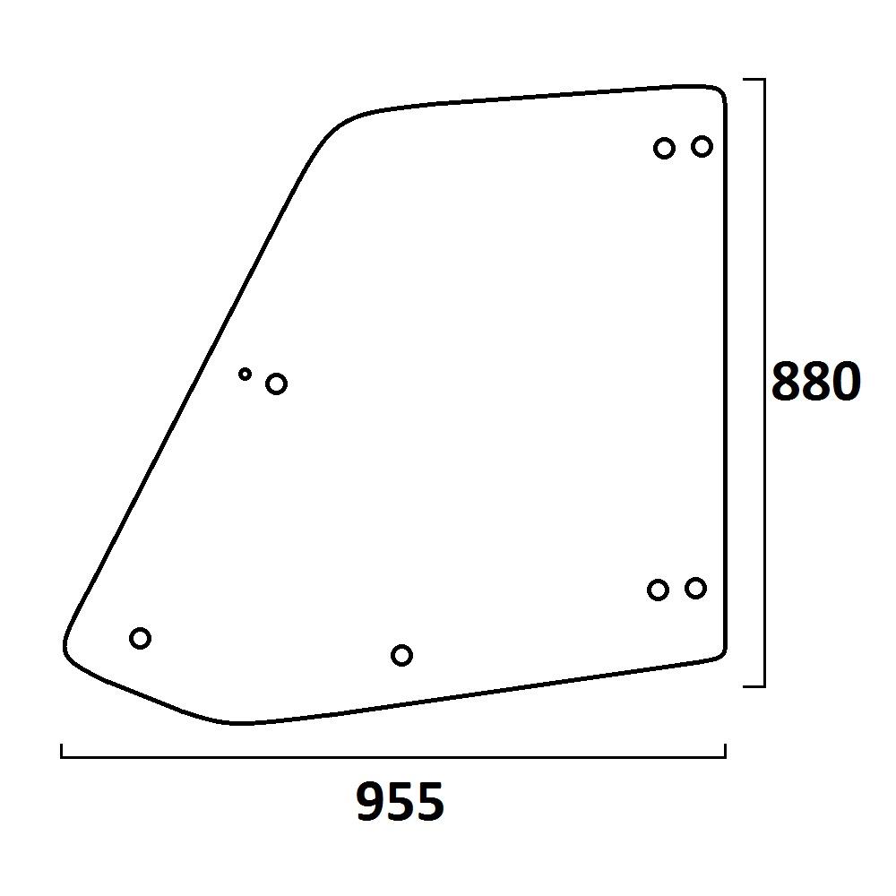 szyba drzwi góra ładowarka teleskopowa CAT TH 336