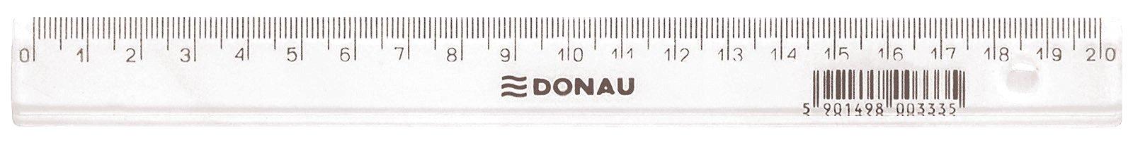Linijka plastikowa DONAU 20cm transparentna