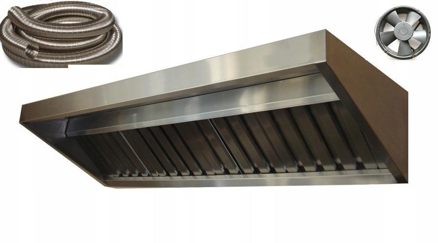 Okap Gastronomiczny S 200x70x40 FILTR WentylatorXL