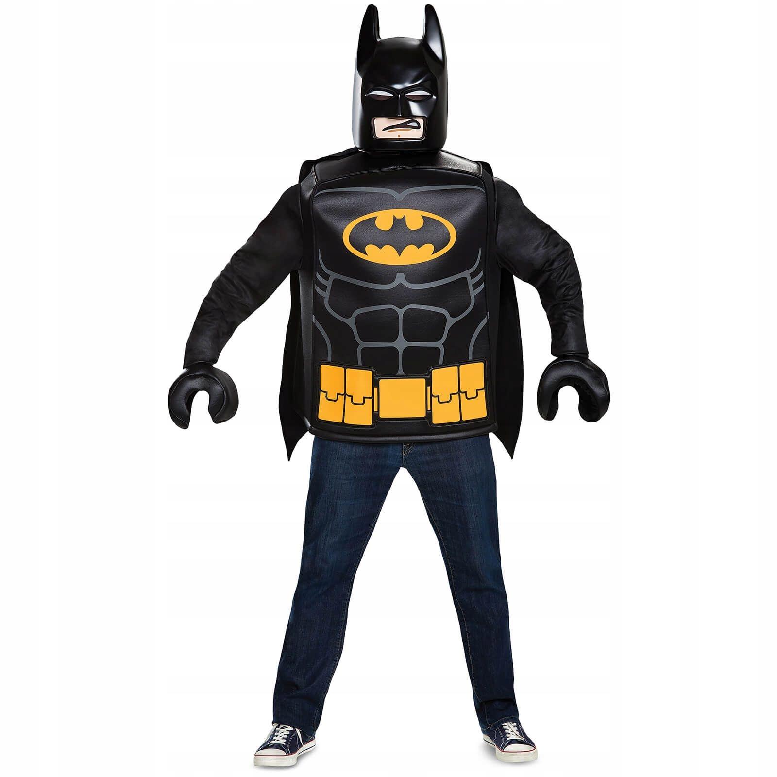 KOSTIUM LEGO BATMAN MASKA RĘKAWICE DELUX 7-8 24h