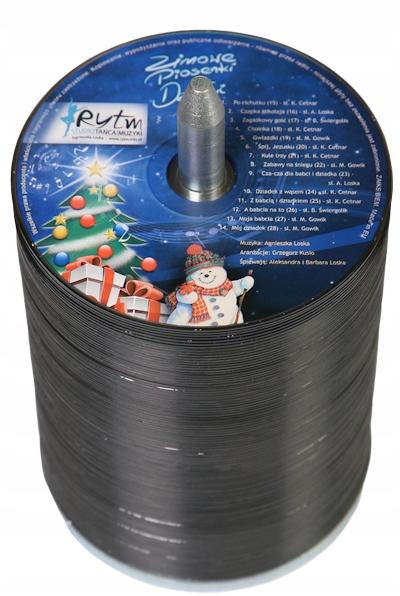 Płyty CD Z NADRUKIEM KOLOR UV 100 PŁYT Verbatim