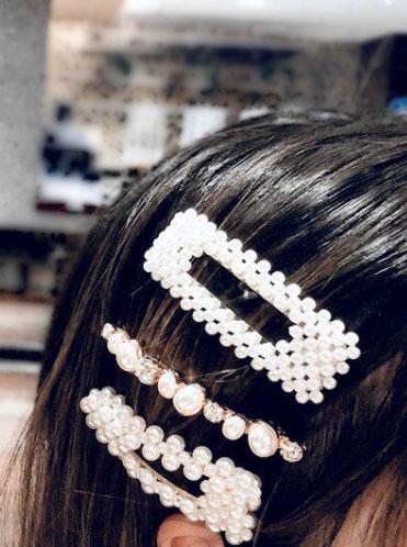 -MARGUT - Заколки для волос с жемчугом жемчуг v