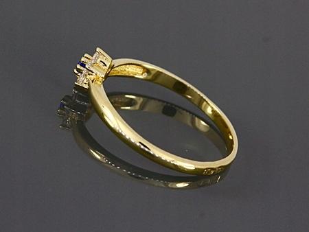 złoty pierścionek 585 - dla dziewczynki R10