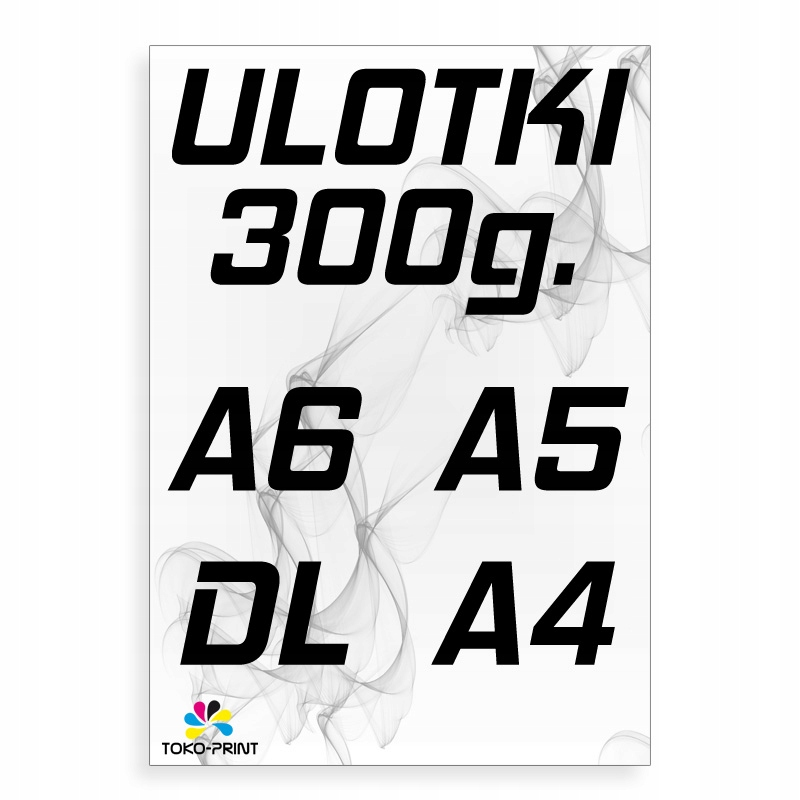 ULOTKI PREMIUM 300g A4 500 A5 1000 A6 2000 DL 1500