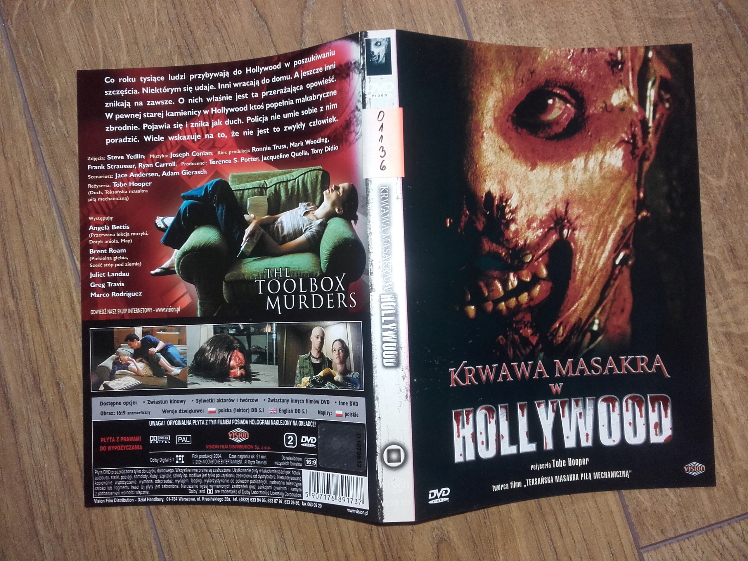KRWAWA MASAKRA W HOLLYWOOD - reż Tobe Hooper