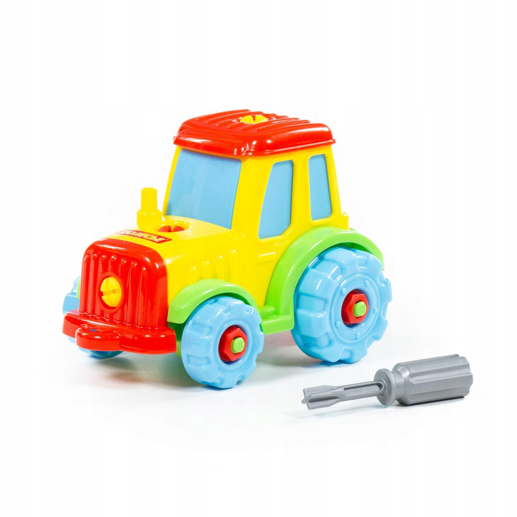 Kolorowy Traktor Ze Śrubokrętem 20 elemrntów