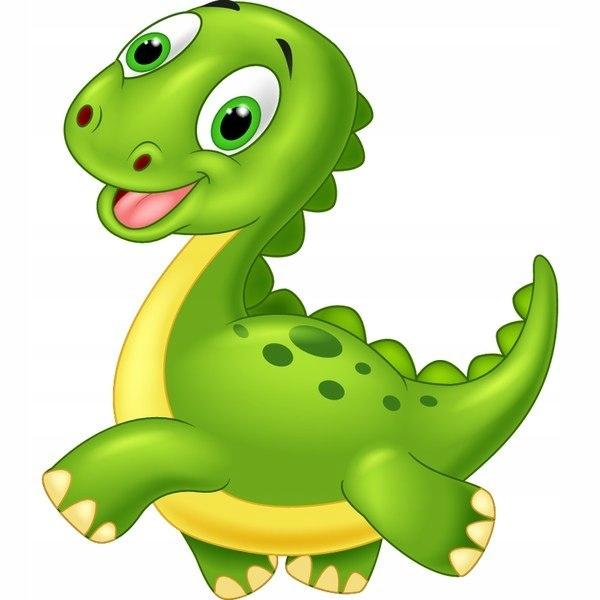 Biegnący dinozaur 40x40cm naklejka dziecka pokój