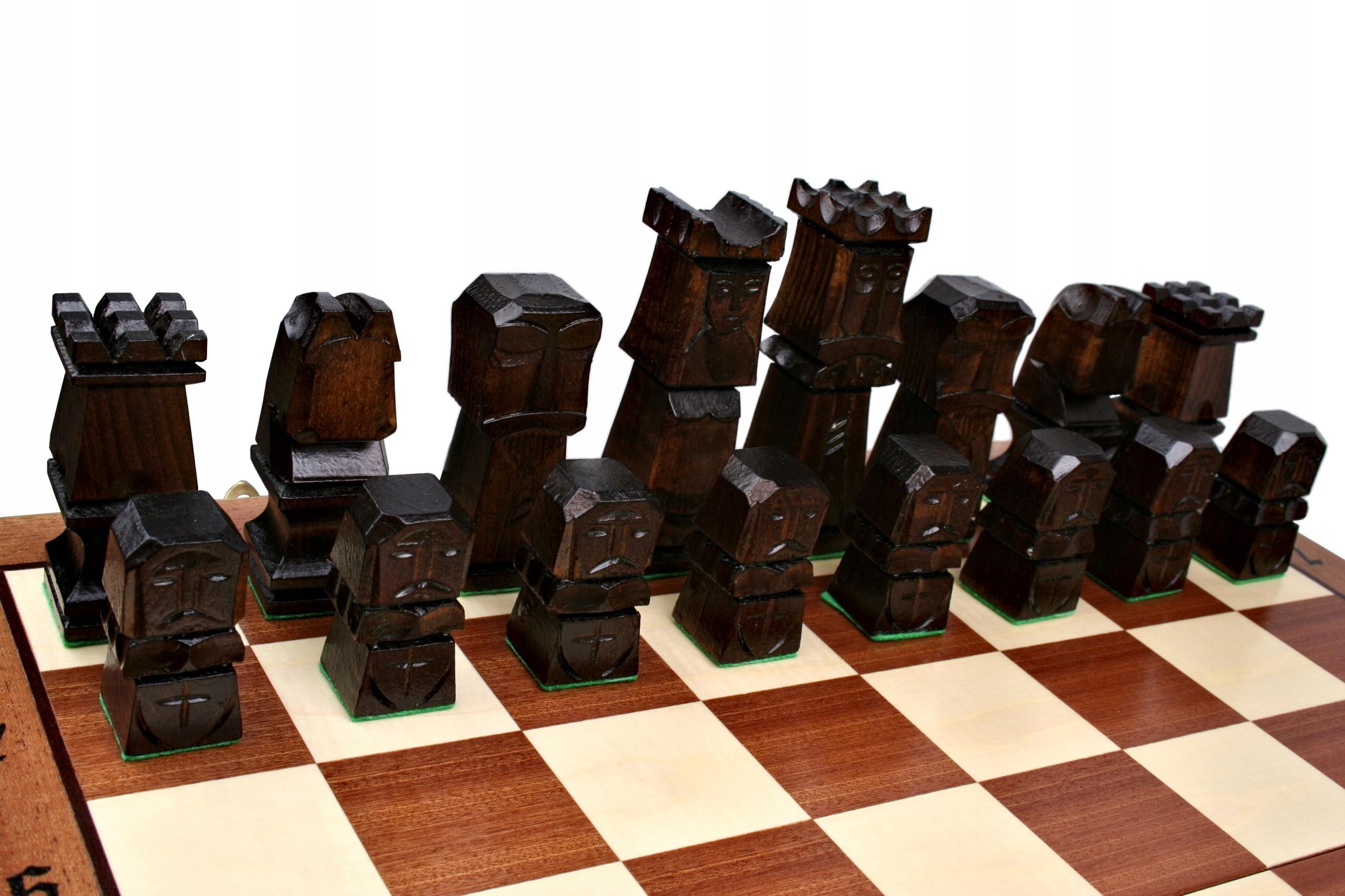 Szachy drewniane Orawa - 49 cm INTARSJA