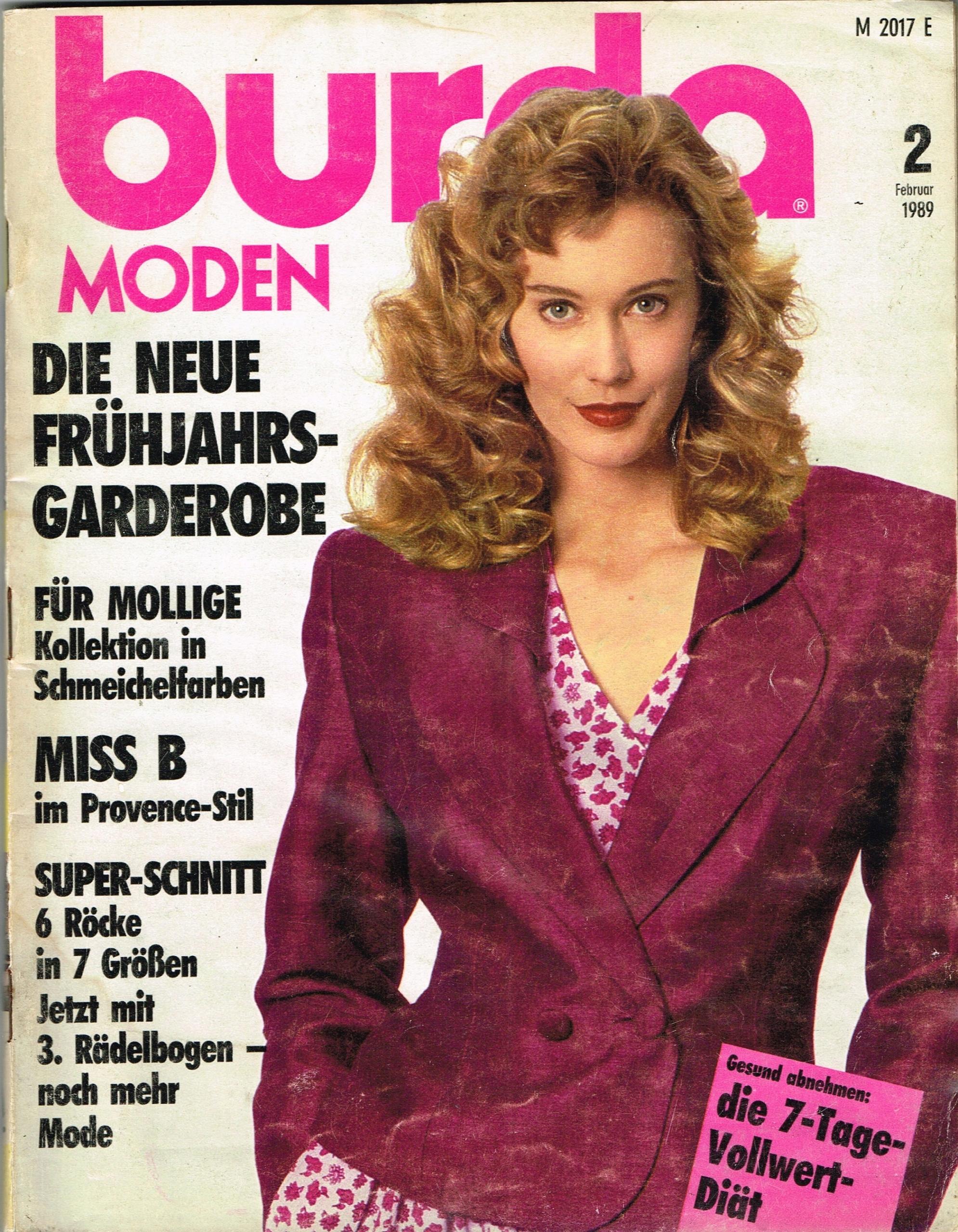 BURDA 2 / 1989 + wykroje
