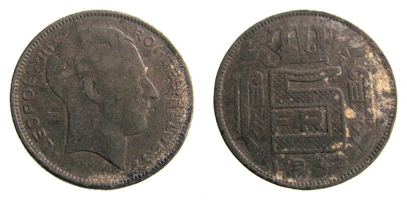 8370. BELGIA, 5 FRANKÓW, 1943