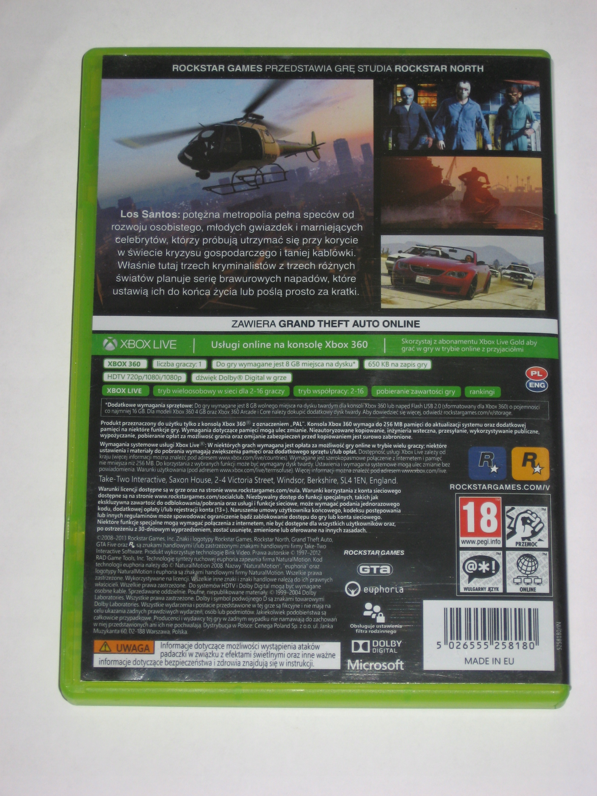 GTA 5 GTA V Grand Theft Auto 5 + MAPA XBOX360 bdb