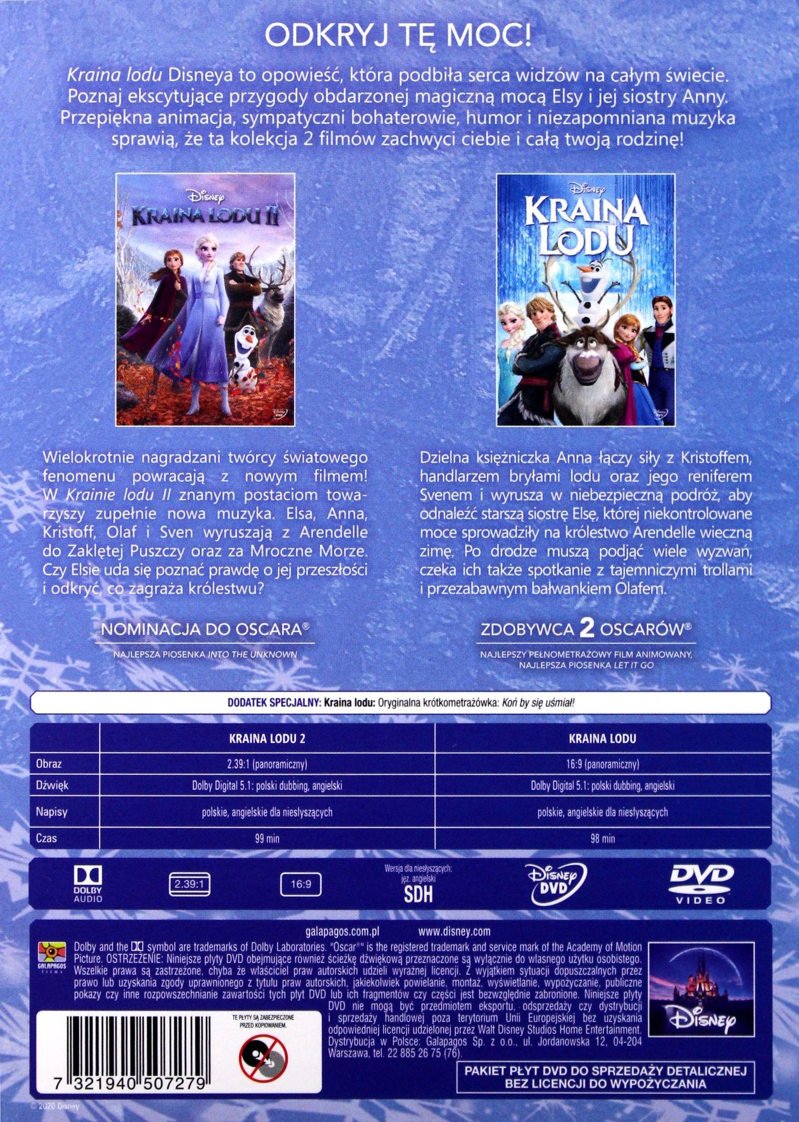 KRAINA LODU 1-2 (DISNEY) (BOX) (DVD)