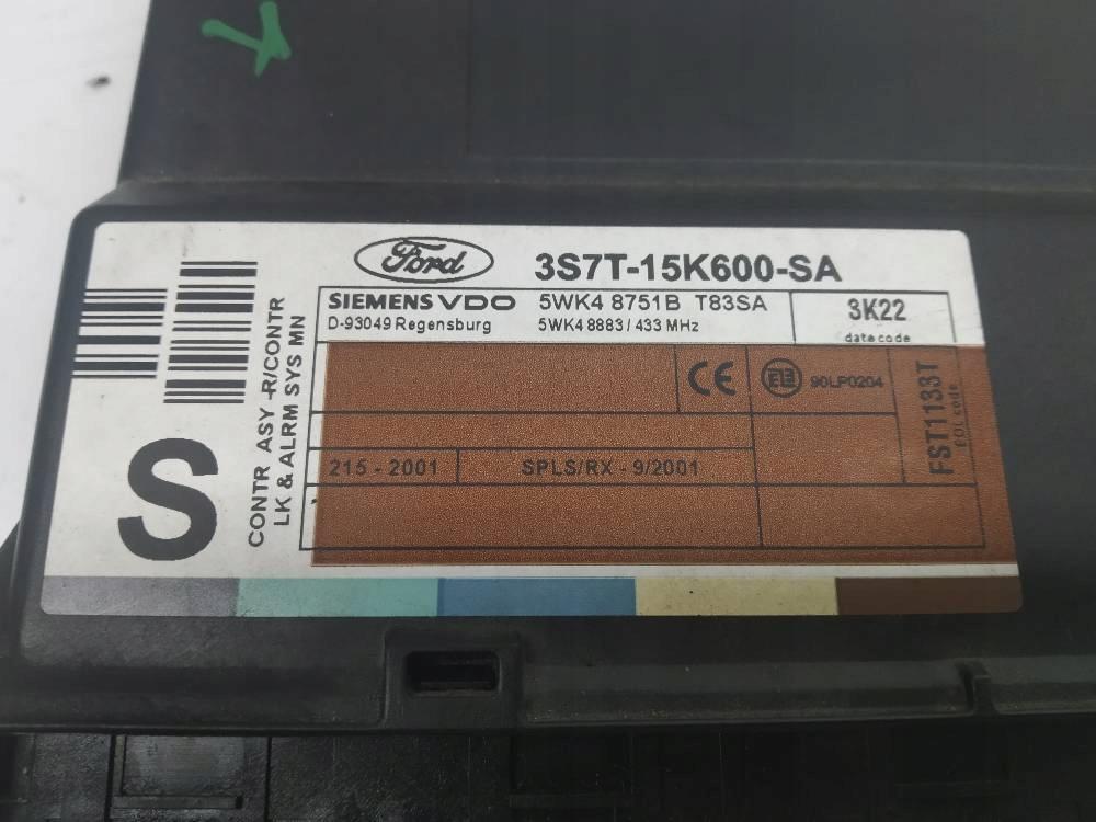 MODUŁ KOMFORTU 3S7T-15K600-SA Ford Mondeo Mk3 2.0