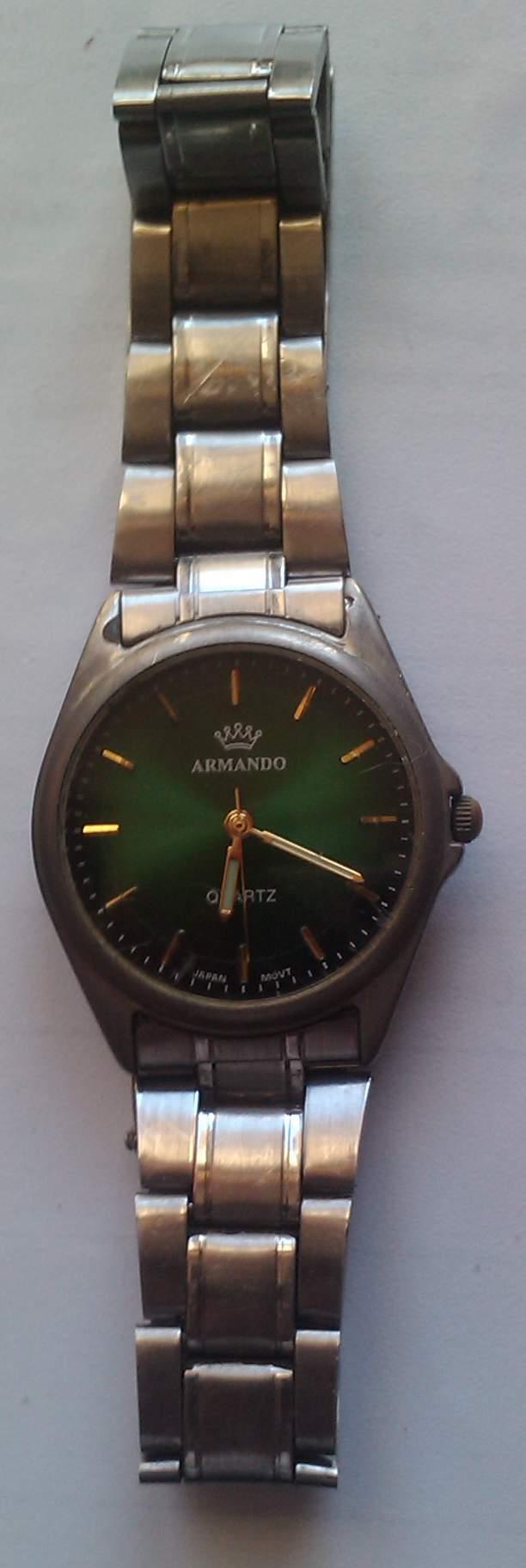 Zegarek męski, japoński ARMANDO, metalowy, QUARTZ.