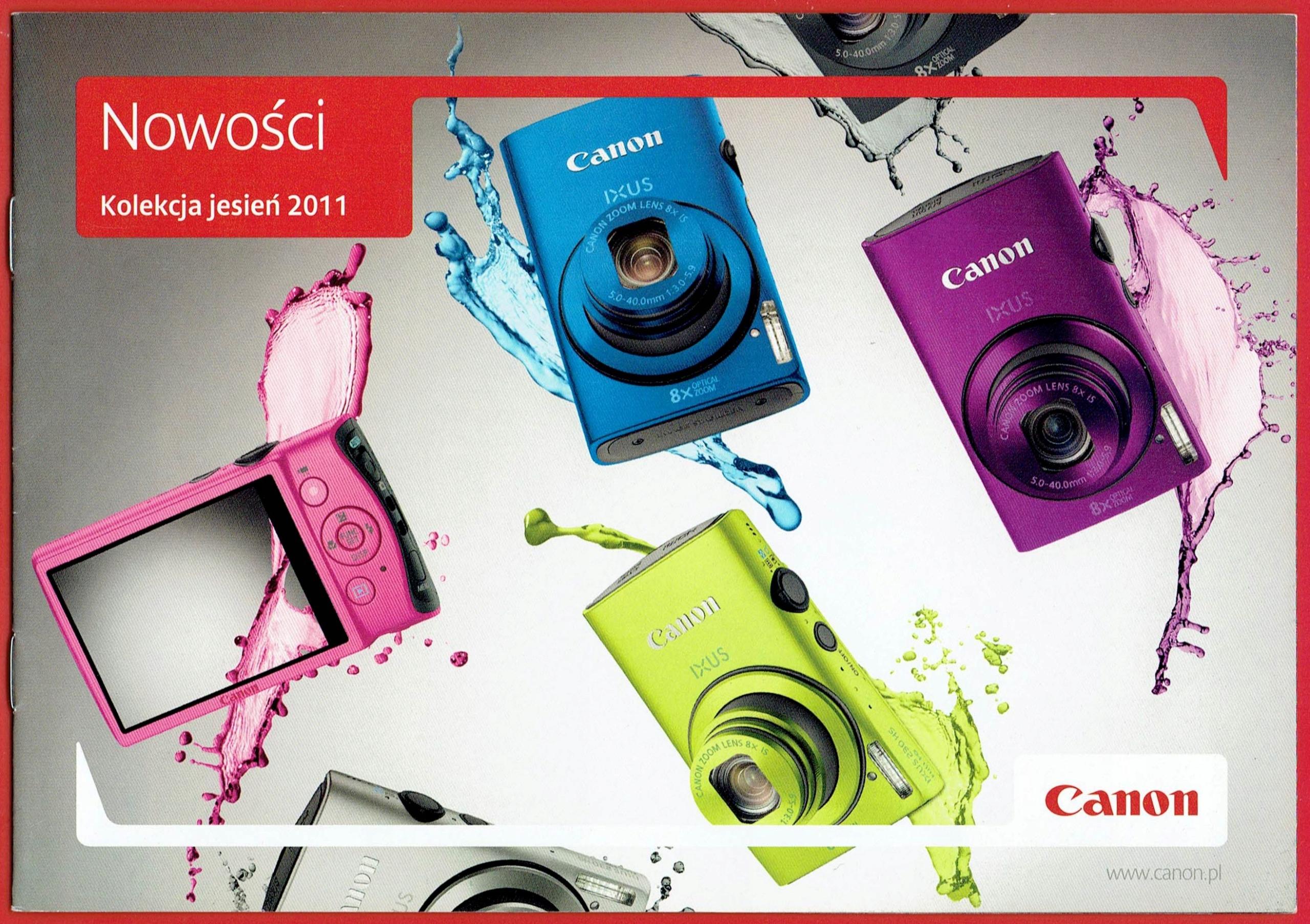 Canon aparaty - folder / katalog 2011 rok