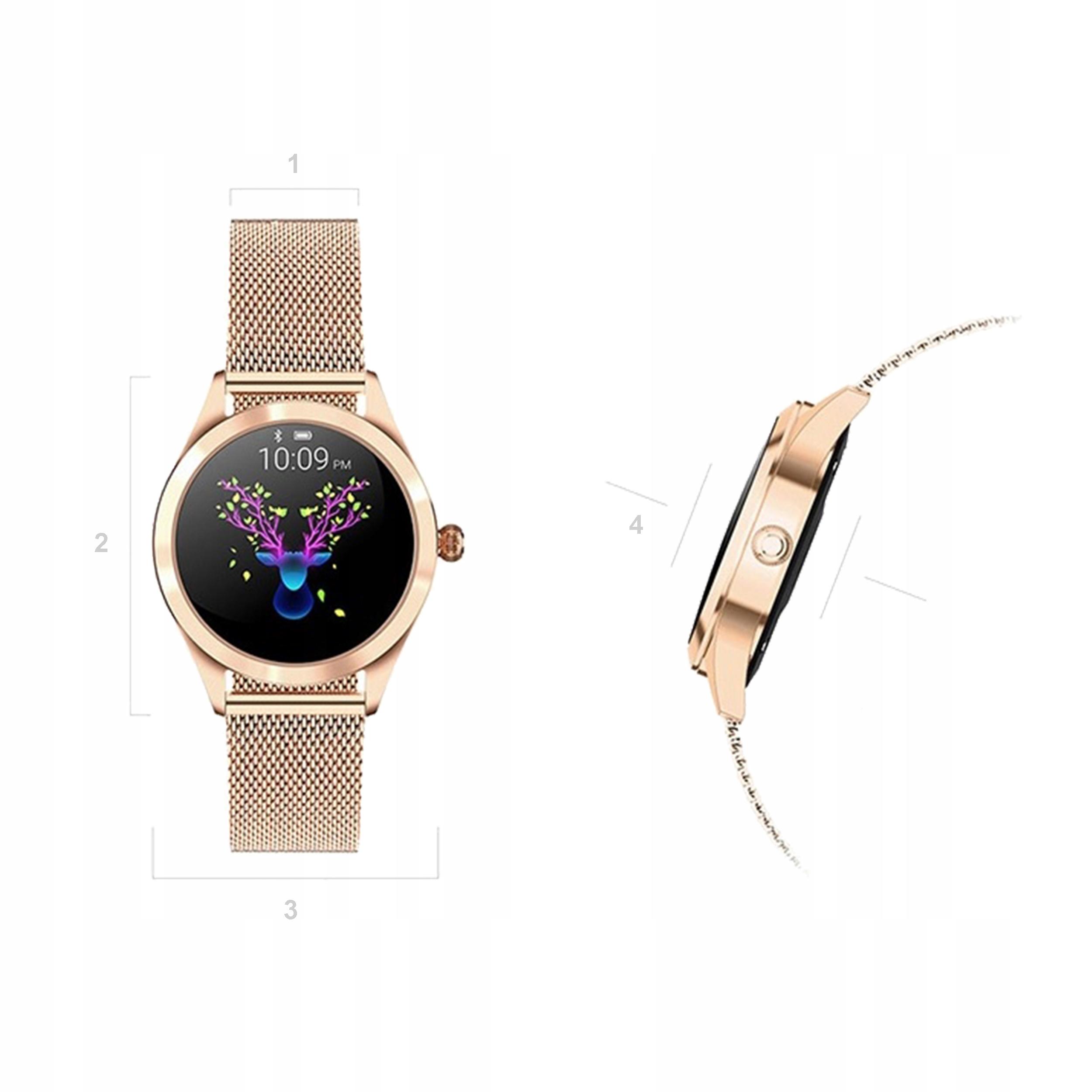 Smartwatch damski KW10 OLED DESIGN kroki puls cykl