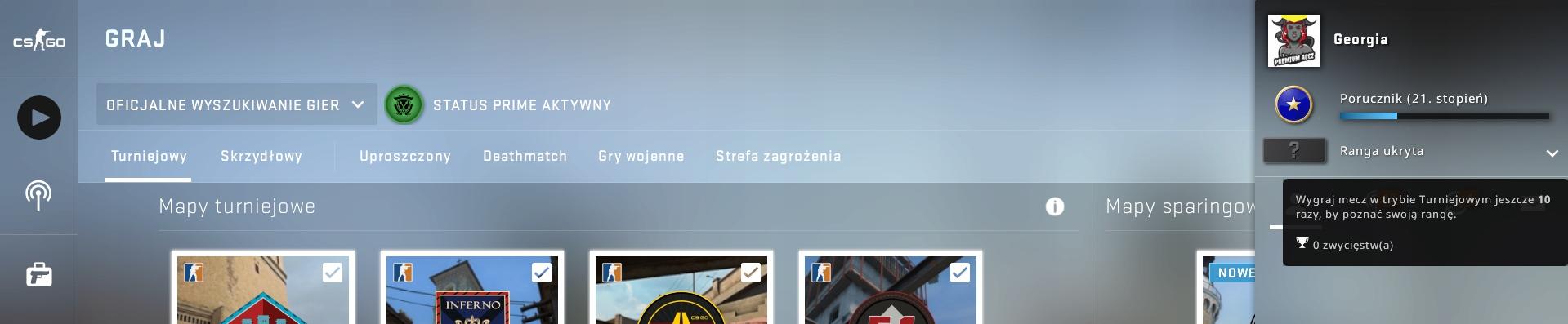 Konto Counter-Strike Global Offensive CS:GO PRIME