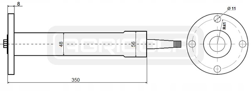 KOLUMNA Z ORBITROLEM URSUS C-330 C-360 ZETOR