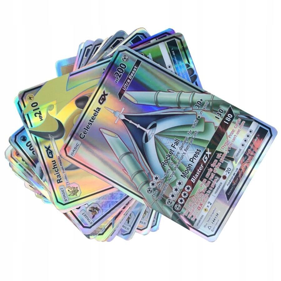KARTY POKEMON MEGA GX BEZ POWTÓRZEŃ 200 SZT