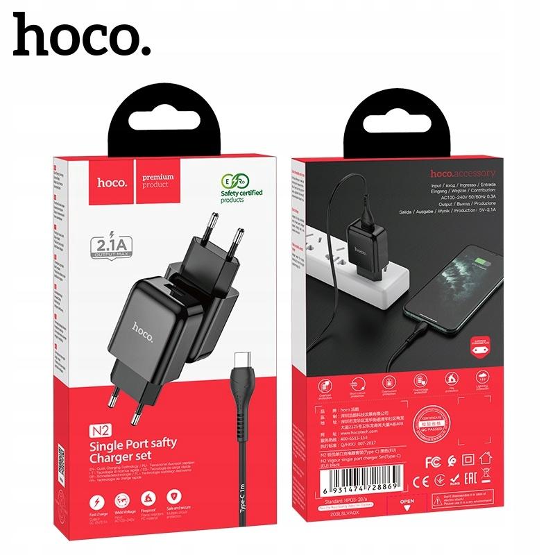 hoco N2 Ładowarka sieciowa 2.1A + kabel USB Type-C