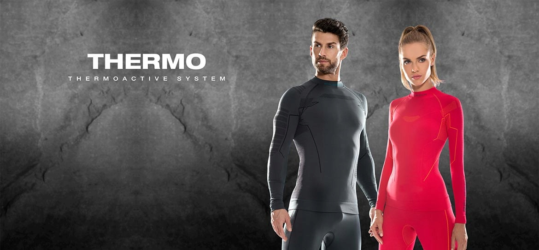 Spodnie męskie Legginsy termiczne Brubeck THERMO M
