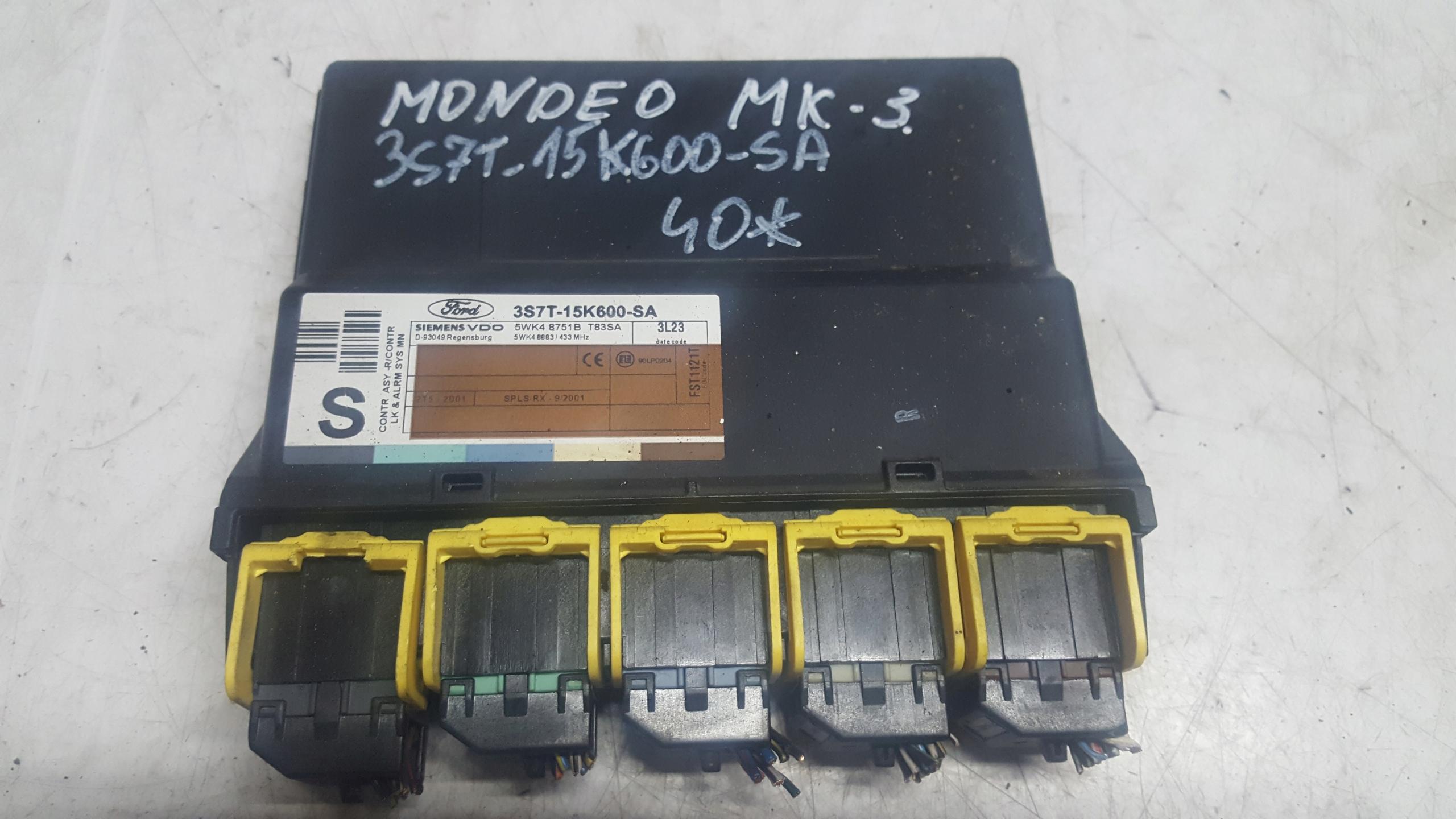 MODUŁ KOMFORTU FORD MONDEO MK-3 3S7T-15K600-SA