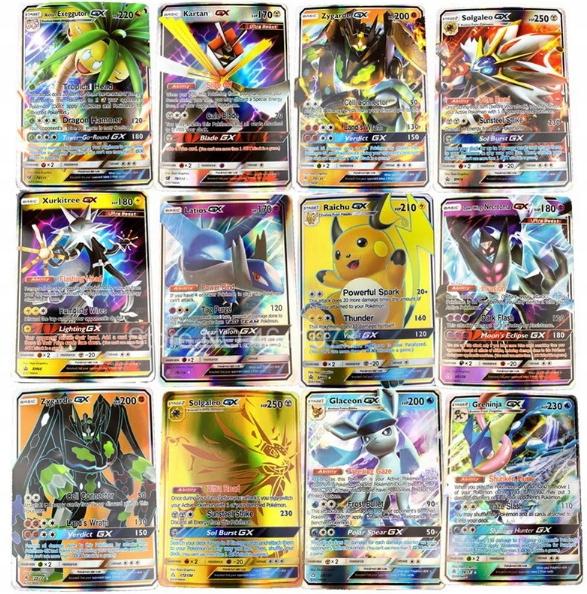 Karty pokemon 100 sztuk GX