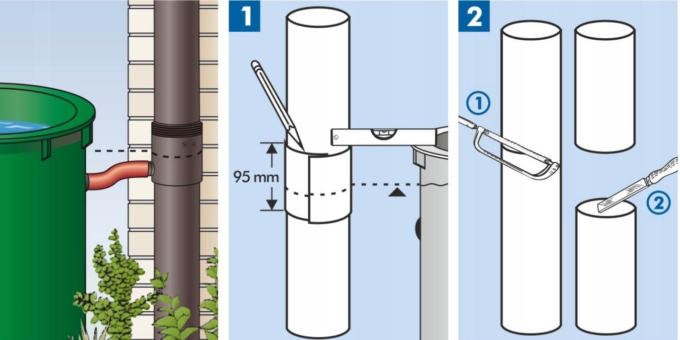 ZBIERACZ WODY ŁAPACZ DESZCZÓWKI FILTR 80-105 mm