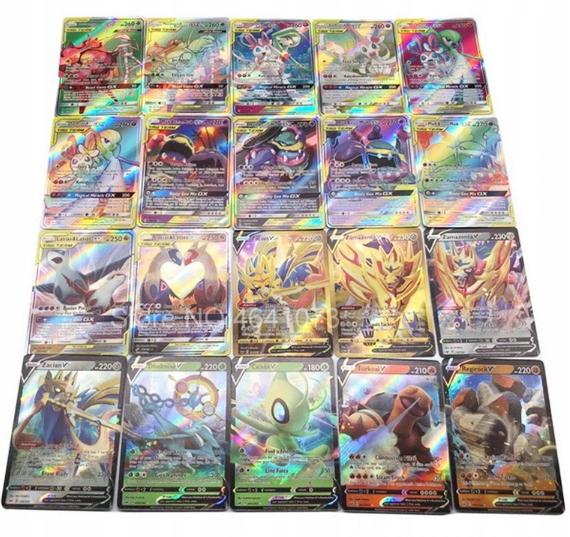 Karty pokemon 120 sztuk GX niepowtarzające się