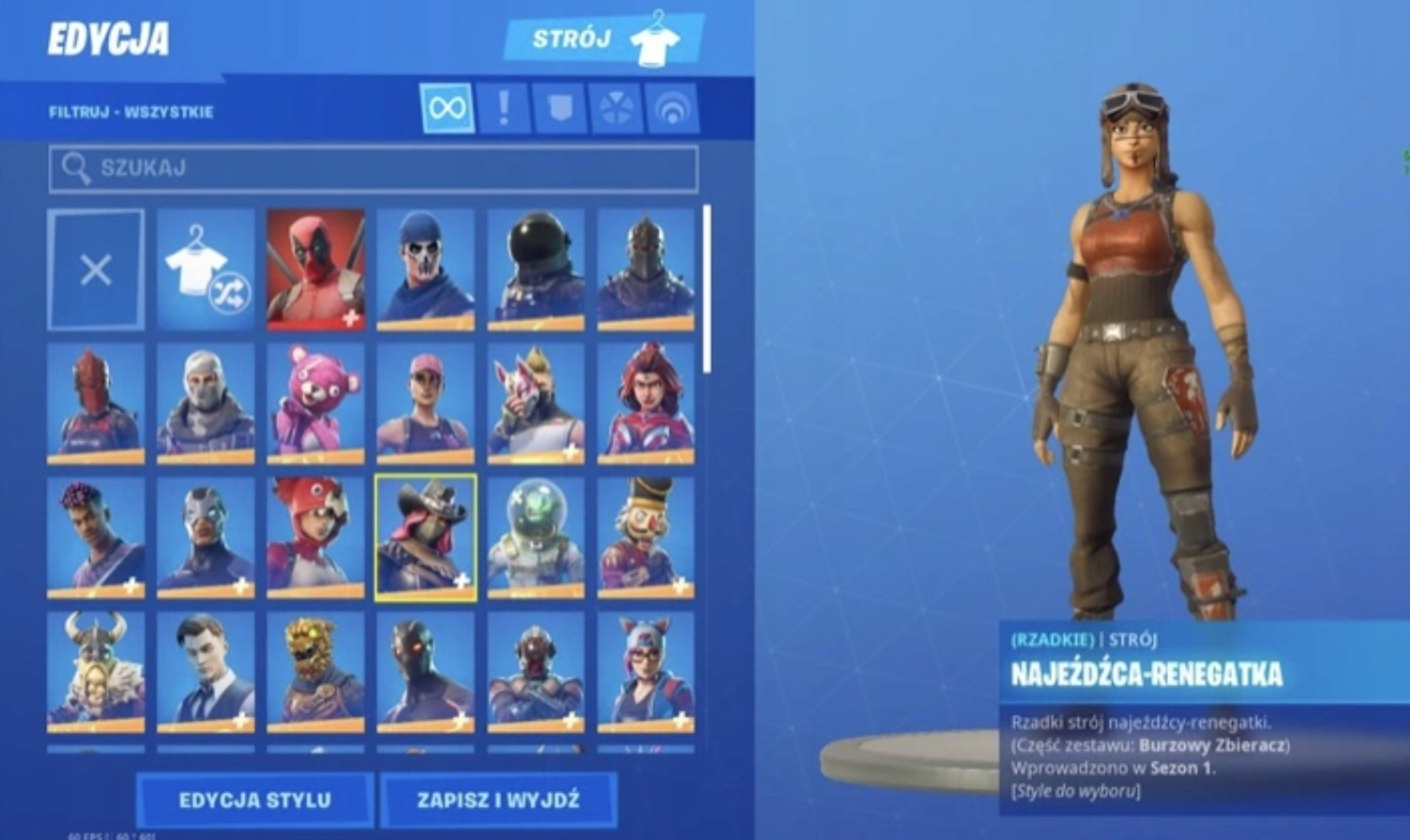 FORTNITE KONTO REGENERAD BLACK MAKO IKONIK CUSTOMY