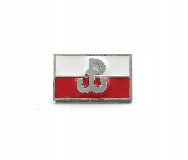 ZNACZEK WPINKA FLAGA POLSKA WALCZĄCA