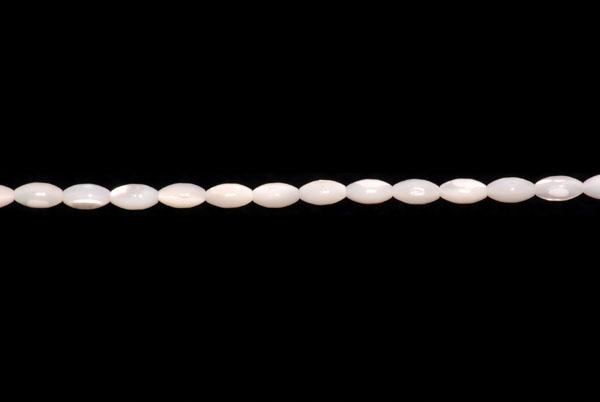 Muszla biała baryłka 8x4mm 3 szt