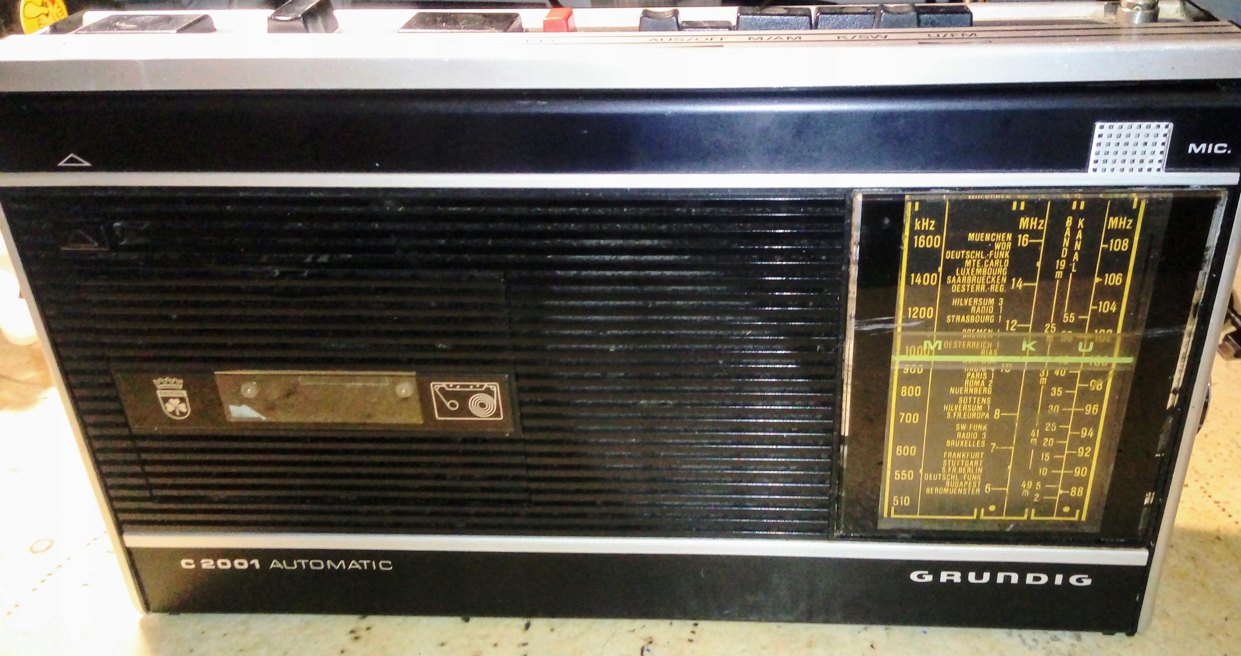 GRUNDIG C2001 radiomagnetofon vintage '75 SPRAWNY