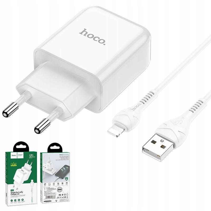 hoco N2 Ładowarka sieciowa 2.1A + kabel iPhone