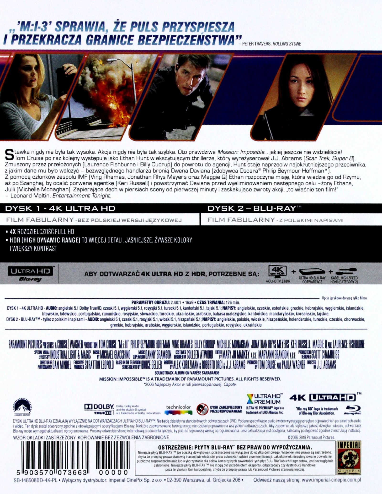 MISSION: IMPOSSIBLE III LIMITED STEELBOOK BLU-RAY