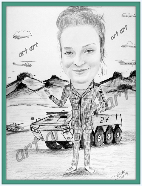 Karykatura wykonana ze zdjęcia