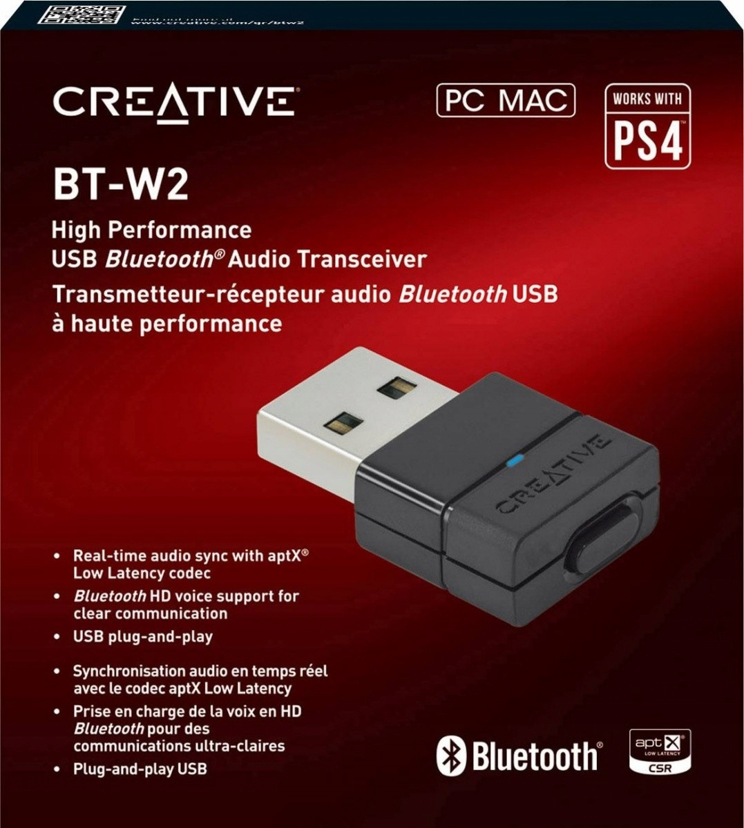 CREATIVE LABS Bluetooth Adapter USB BT-W2