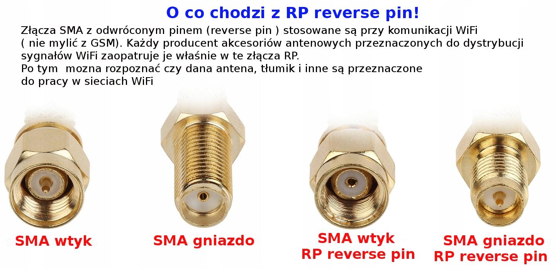 Złącze wtyk SMA RP na kabel H155 zaciskany