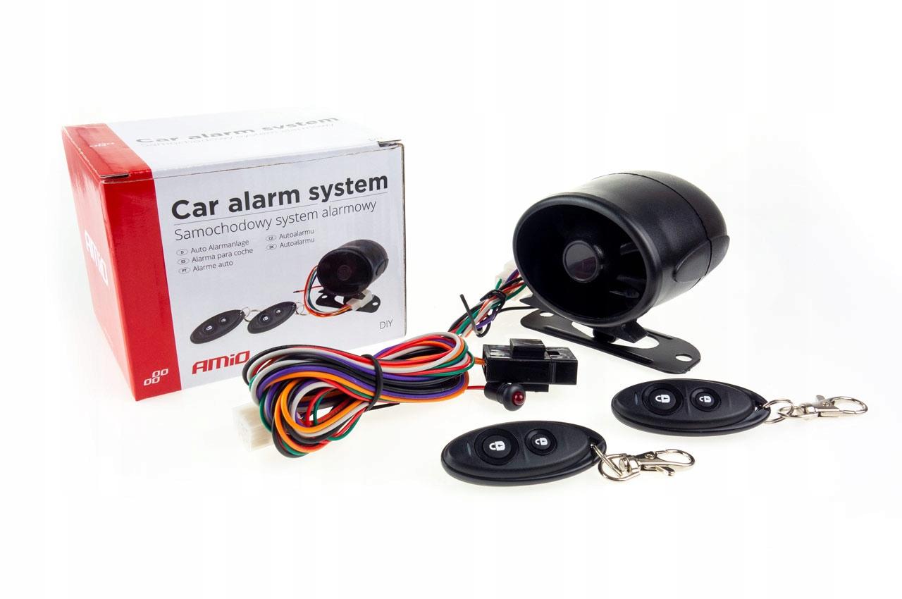 Alarm samochodowy z pilotami AMIO