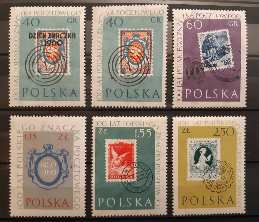 Zestaw - 100 lat polskiego znaczka pocztowego**.