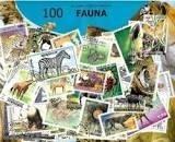 Zestaw 100 znaczków pocztowych - FAUNA