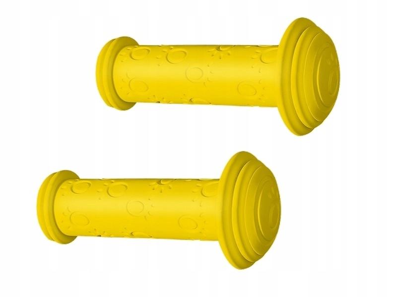 Chwyty kierownicy Herrmans Junior 115mm żółte
