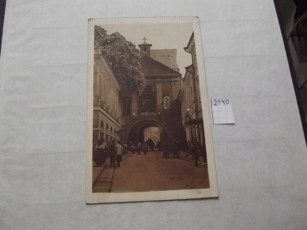 Stara pocztówka Wilno Ostra Brama